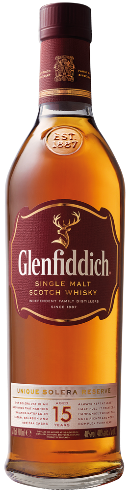 Glenfiddich 15 Años Single Malt – Trago 1,5 Onzas